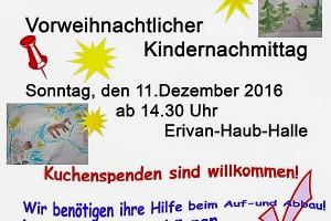 Vorweihnachtlicher Kindernachmittag
